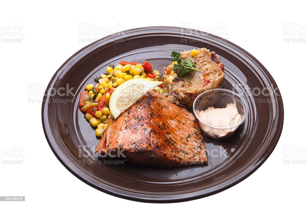 Grilled Alaskan Salmon royalty-free stock photo