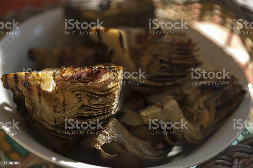 Grilled Artichoke stock photo