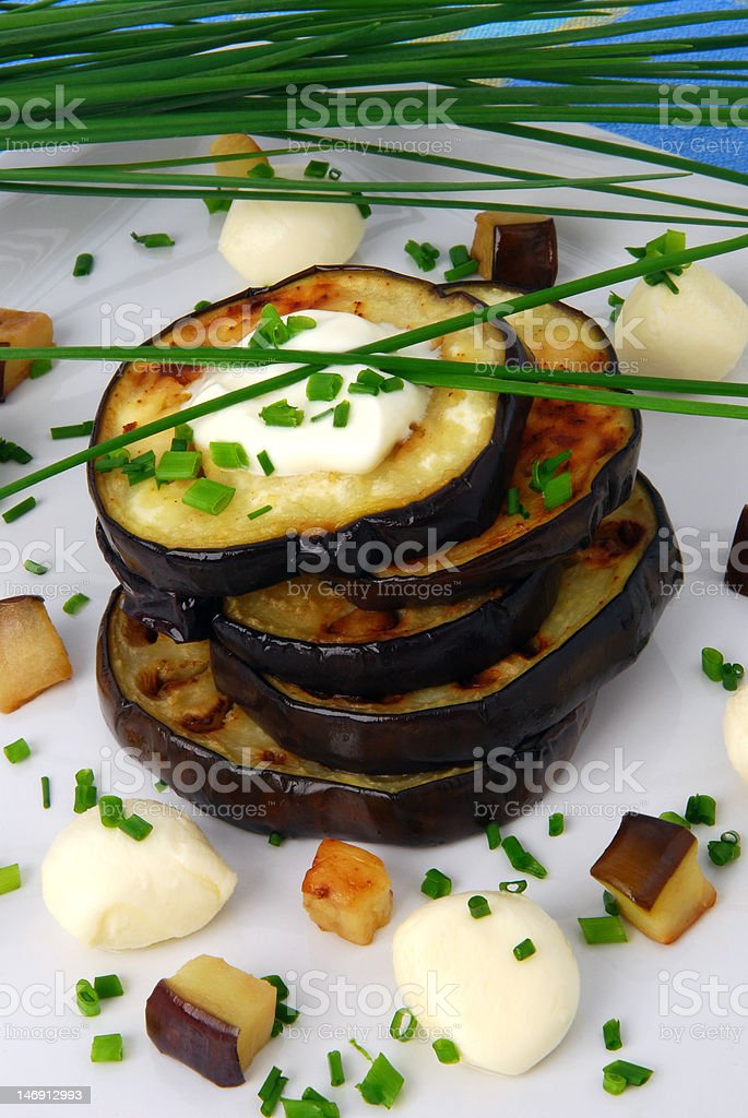 Grilled aubergine royalty-free stock photo