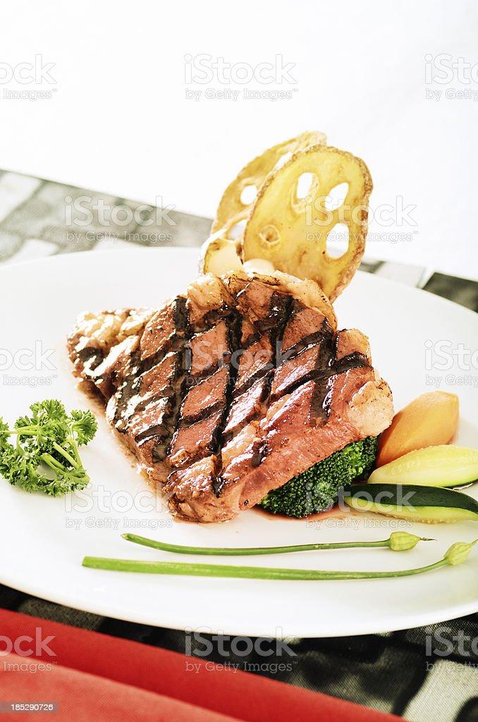 Grilled Australian Beef rib eye royalty-free stock photo