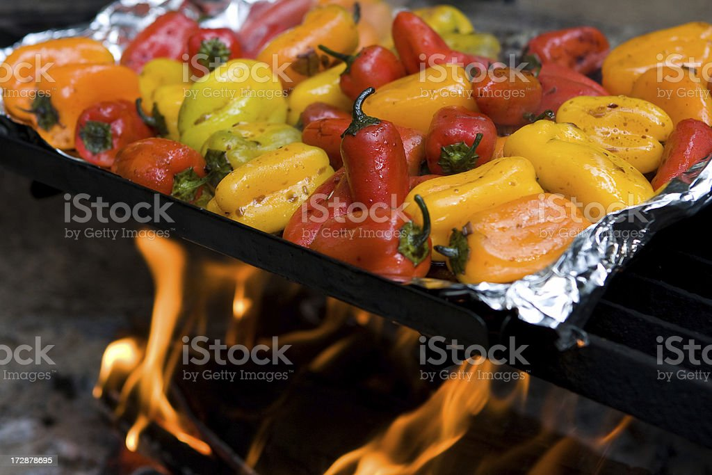 Grilled Baby Bells - Horizontal stock photo