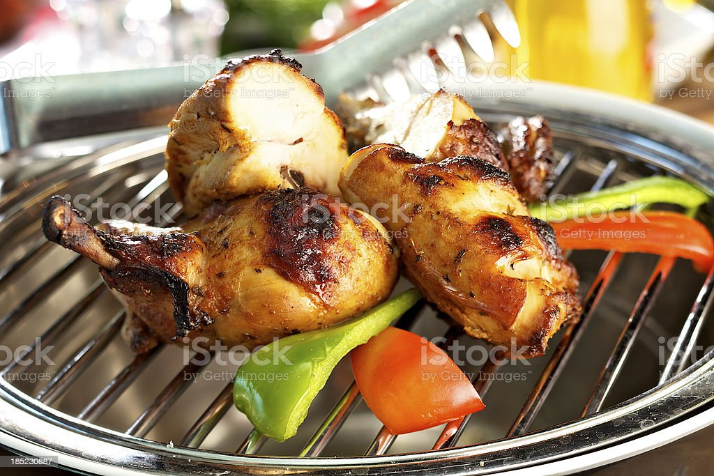 Grilled Baby Chicken stock photo