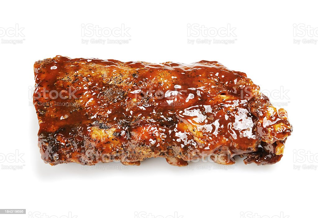 Grilled barbecue ribs royalty-free stock photo