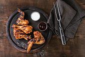 Grilled BBQ chicken
