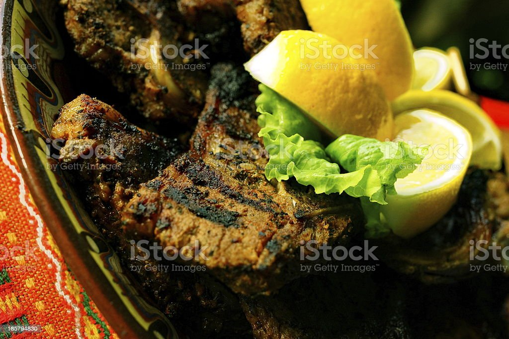Grilled BBQ Pork. royalty-free stock photo