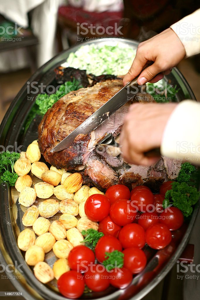 Grilled beef and vegetables royalty-free stock photo