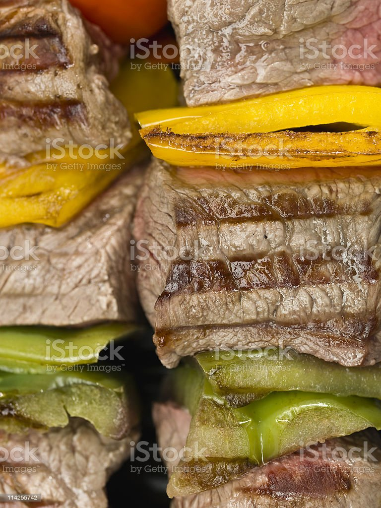 Grilled  Beef Brochette royalty-free stock photo