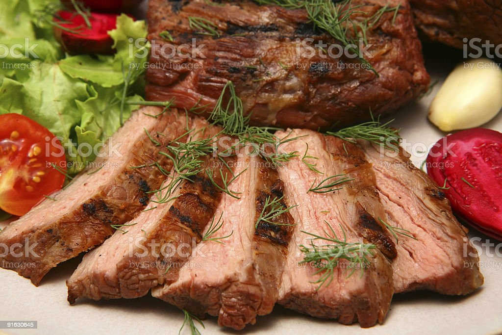 grilled beef meat royalty-free stock photo