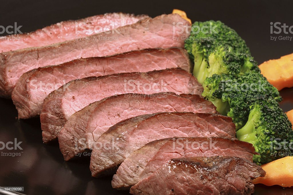 grilled beef stock photo