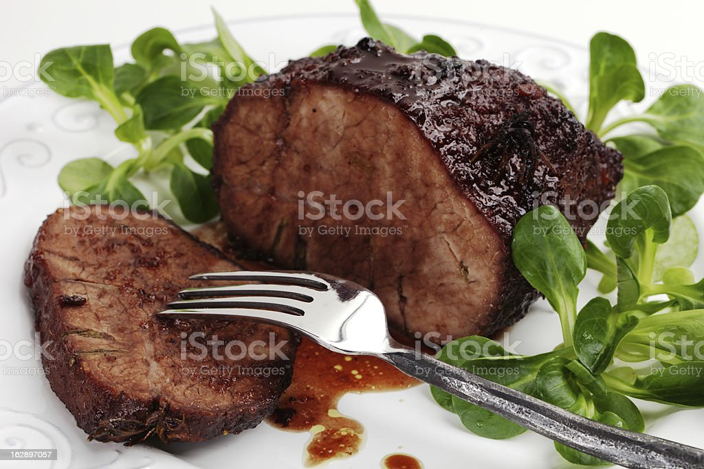Grilled beef royalty-free stock photo