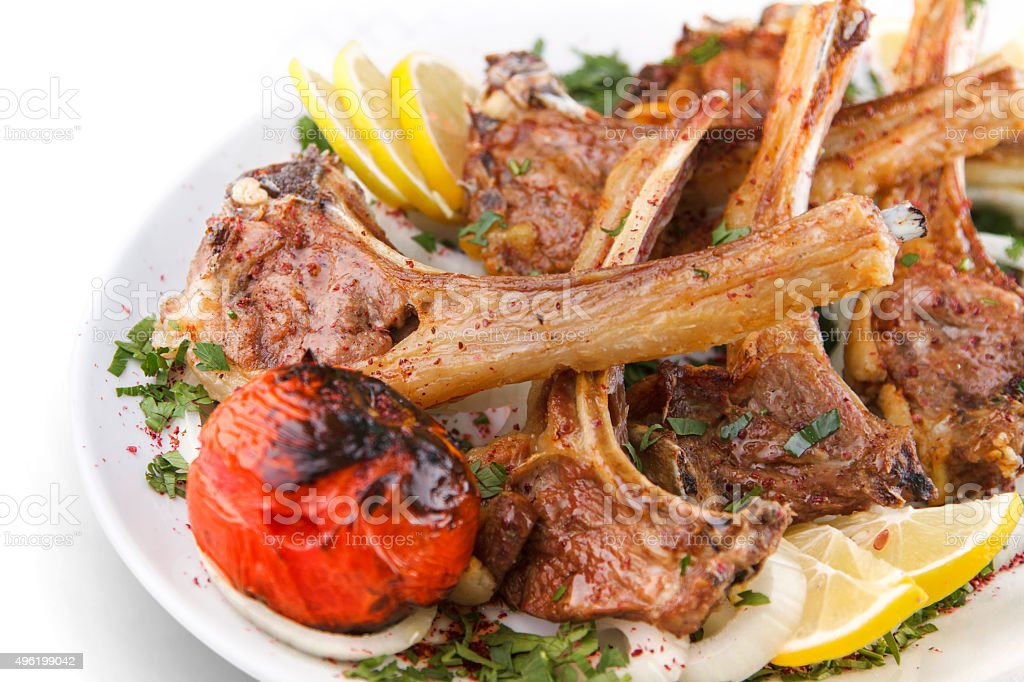 Grilled Beef Rib on a Plate stock photo