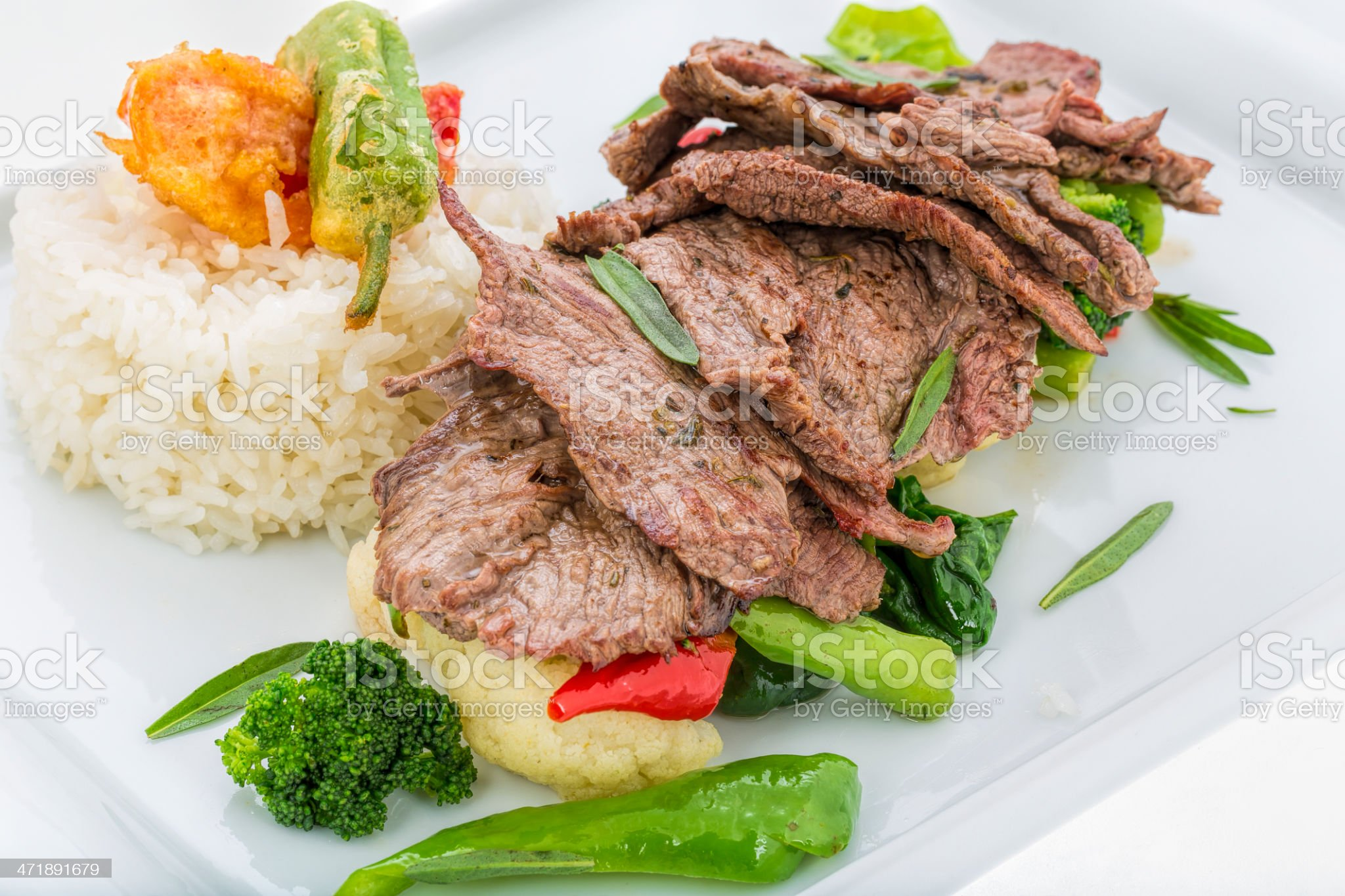 Grilled beef - steak royalty-free stock photo