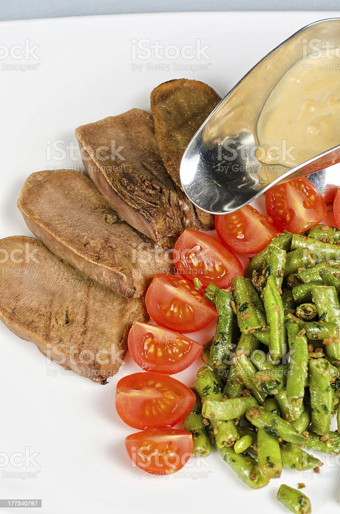 grilled beef tongue royalty-free stock photo