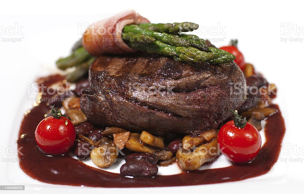 grilled beef with tomato royalty-free stock photo