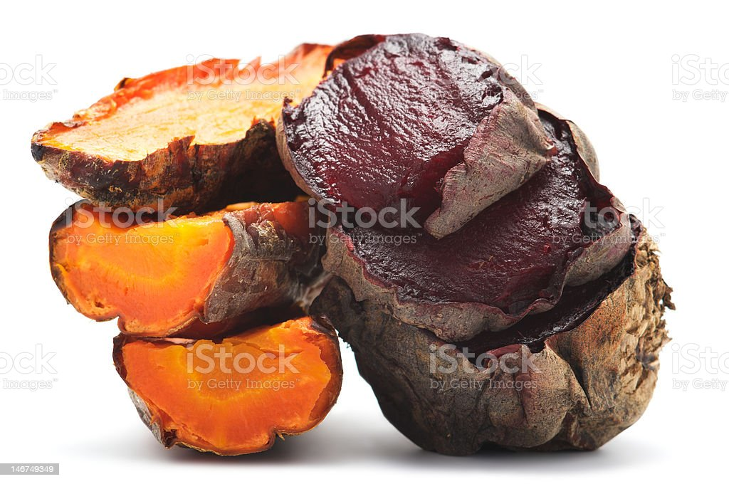 Grilled beet and carrot royalty-free stock photo