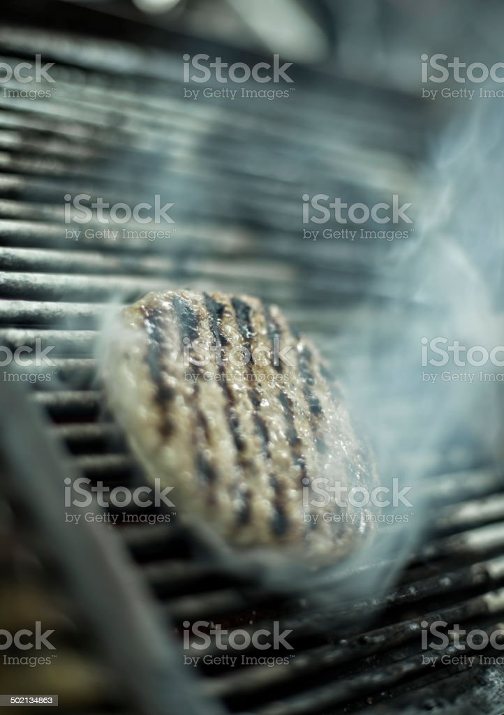 Grilled burger patty royalty-free stock photo