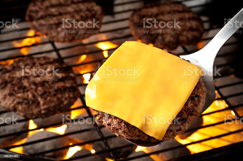 Grilled Burgers stock photo