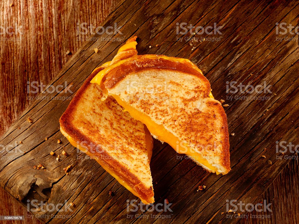 Grilled Cheddar Cheese Sandwich stock photo