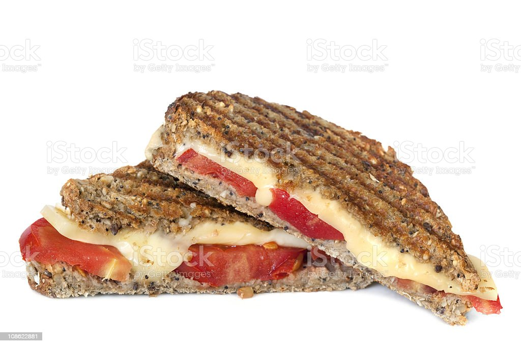 Grilled Cheese and Tomato Sandwich royalty-free stock photo