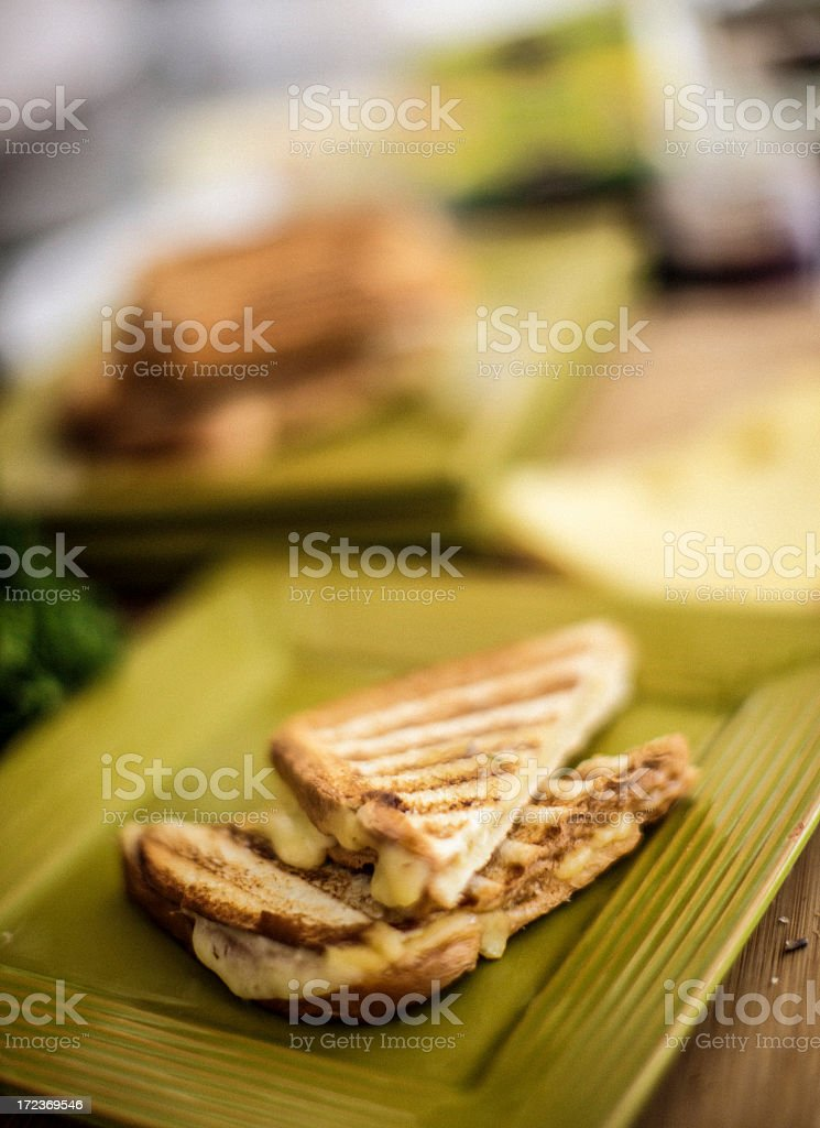 Grilled cheese sandwich royalty-free stock photo