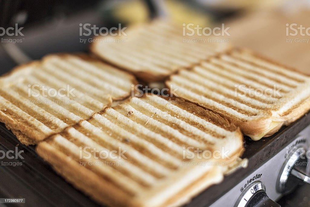 Grilled cheese sandwiches royalty-free stock photo