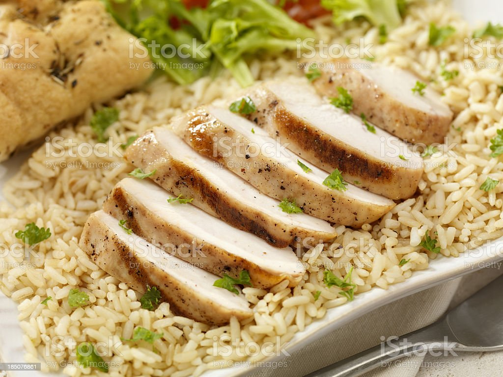 Grilled Chicken and Rice royalty-free stock photo