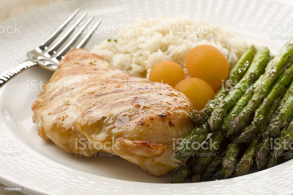 Grilled Chicken Breast Dinner royalty-free stock photo