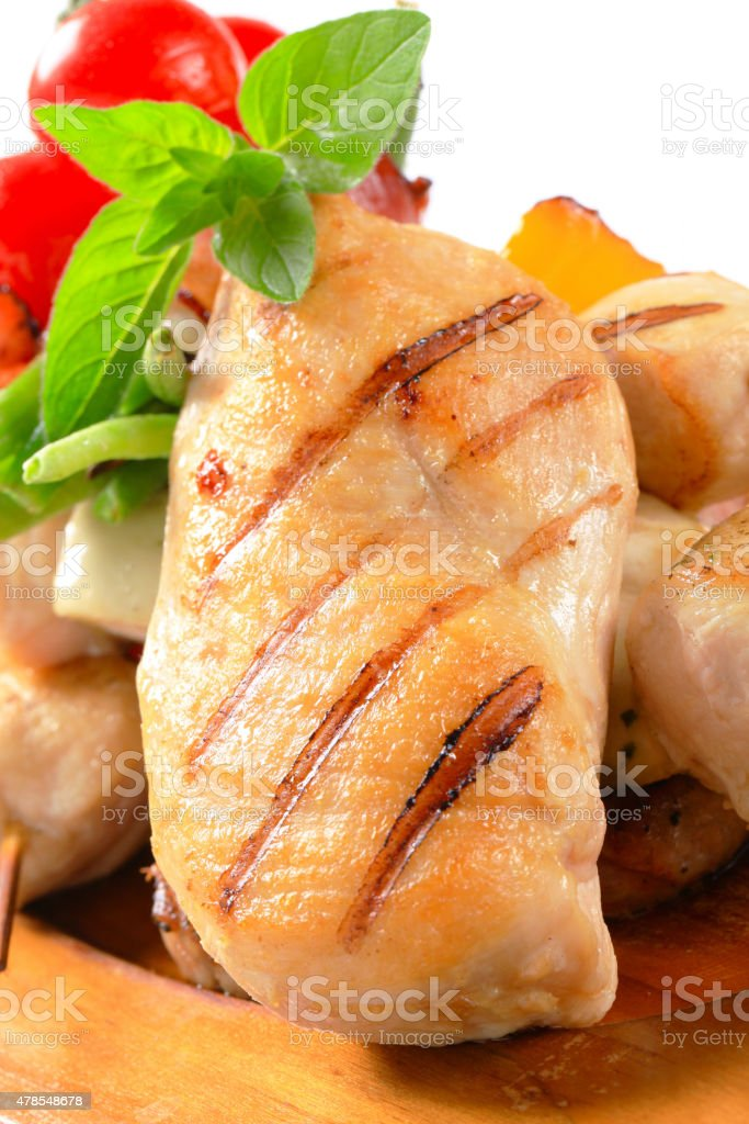 Grilled chicken breast fillet stock photo