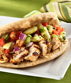 Grilled Chicken Breast Flat bread Sandwich