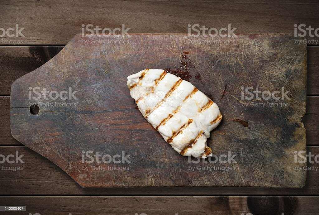 Grilled chicken breast. royalty-free stock photo