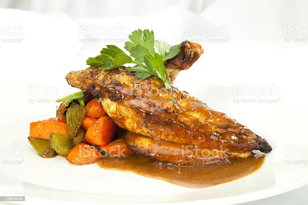 Grilled Chicken breast w wing royalty-free stock photo