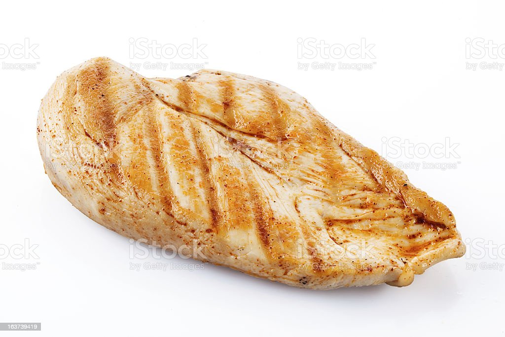 Grilled chicken breast with clipping path royalty-free stock photo
