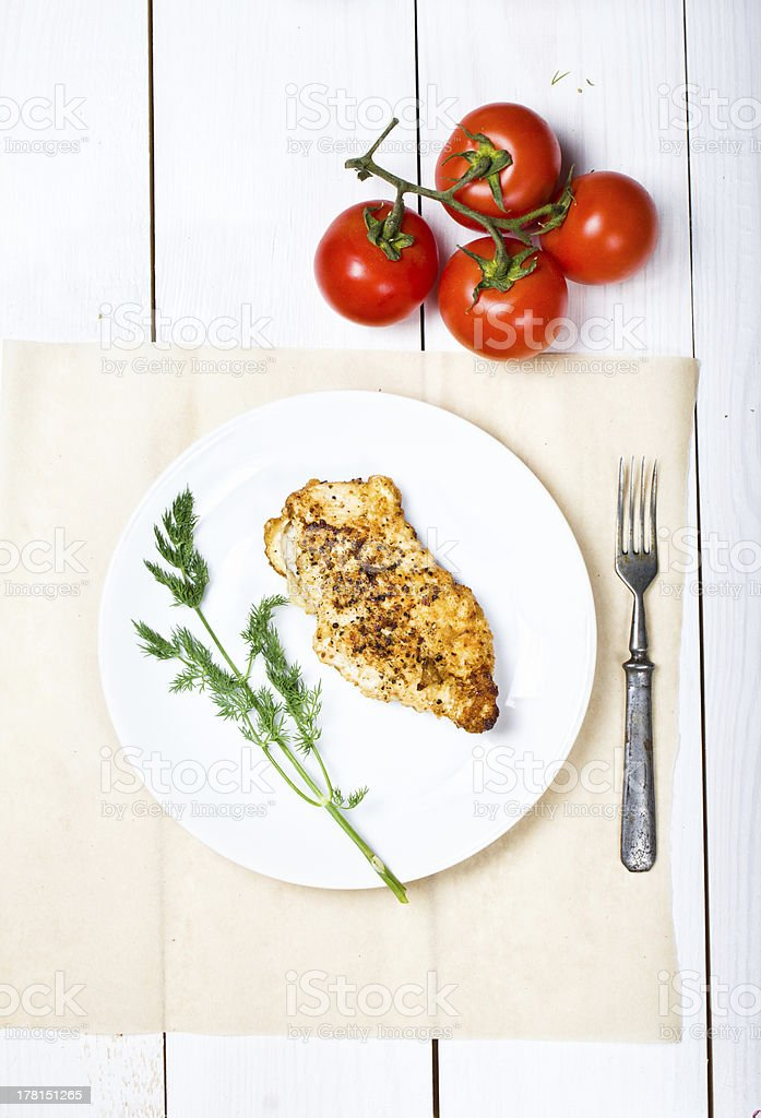 Grilled chicken breasts fillet royalty-free stock photo