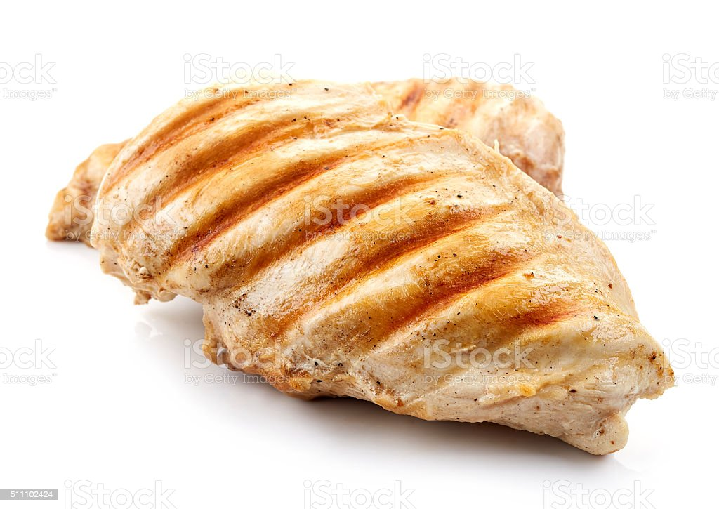 grilled chicken breasts stock photo