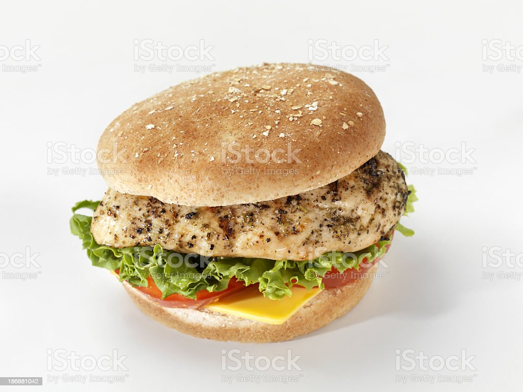 Grilled Chicken Burger stock photo