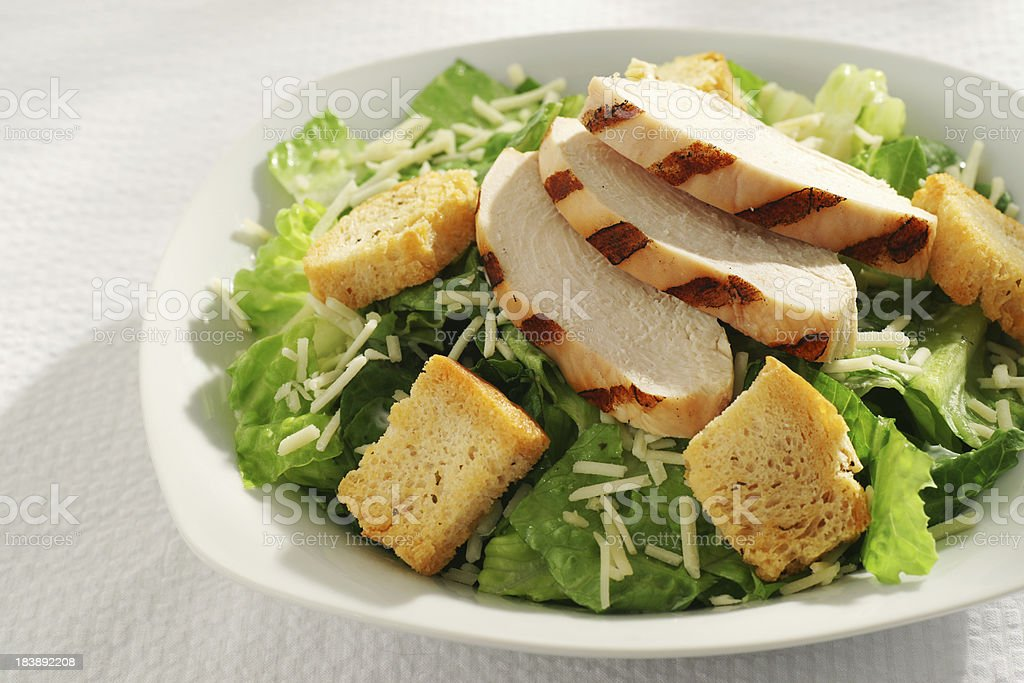 Grilled Chicken Caesar Salad stock photo