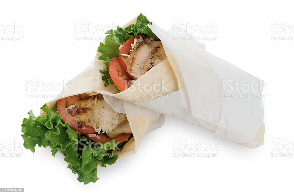 Grilled Chicken Caesar Wraps royalty-free stock photo