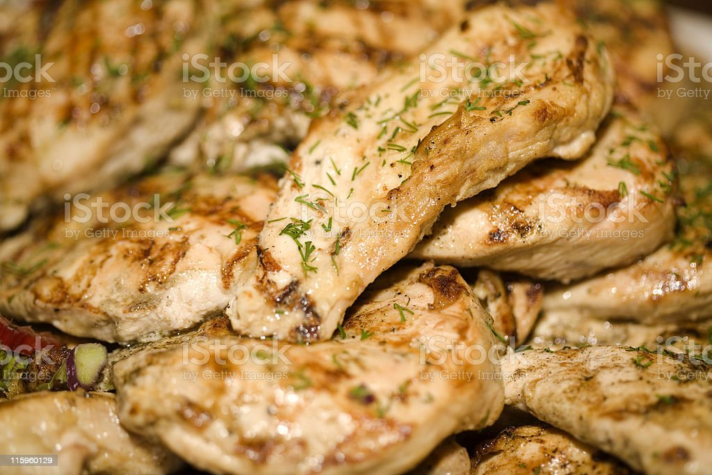 Grilled Chicken Close Up royalty-free stock photo