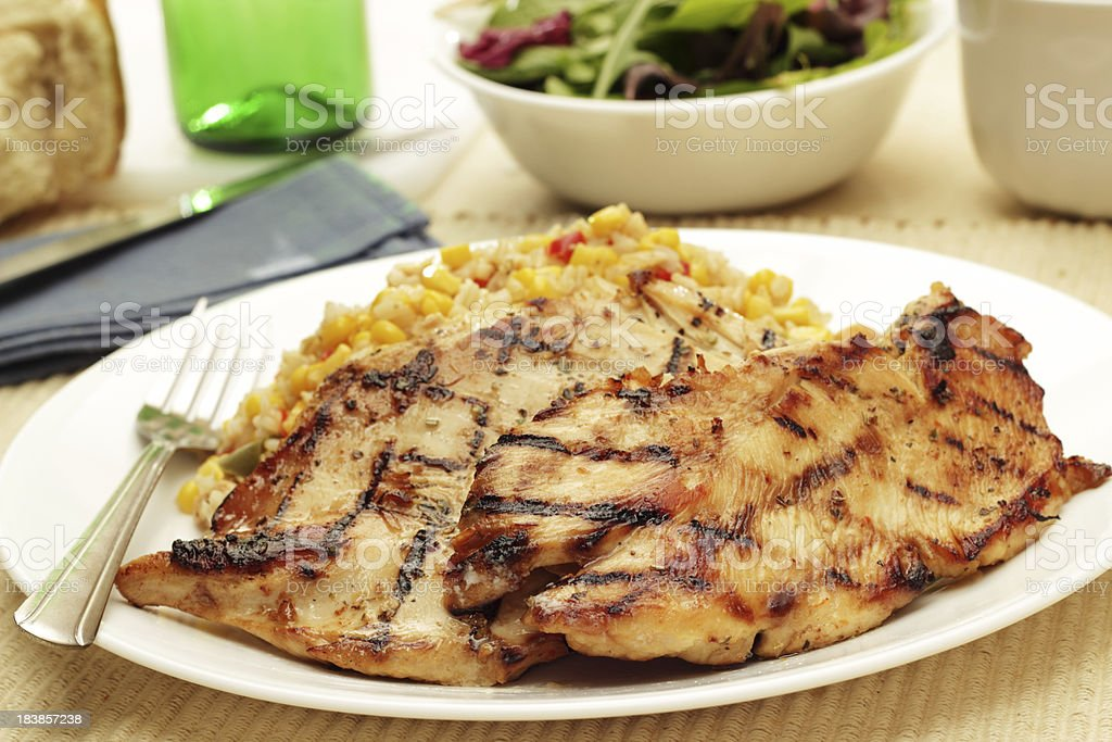 Grilled Chicken Cutlets royalty-free stock photo