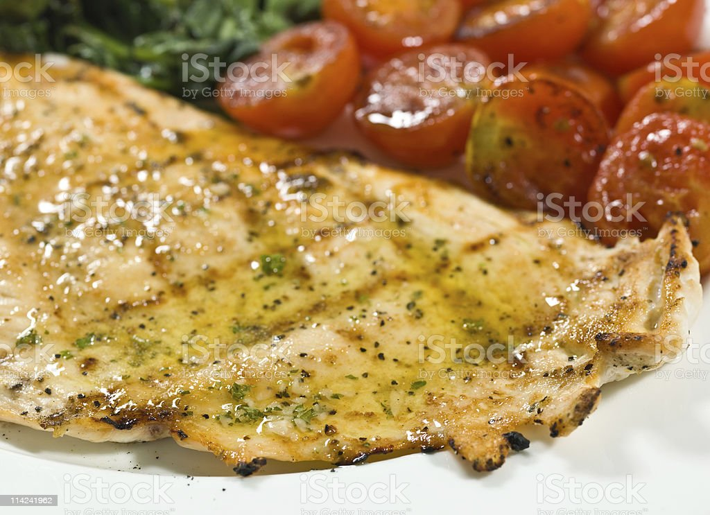 Grilled chicken dinner royalty-free stock photo