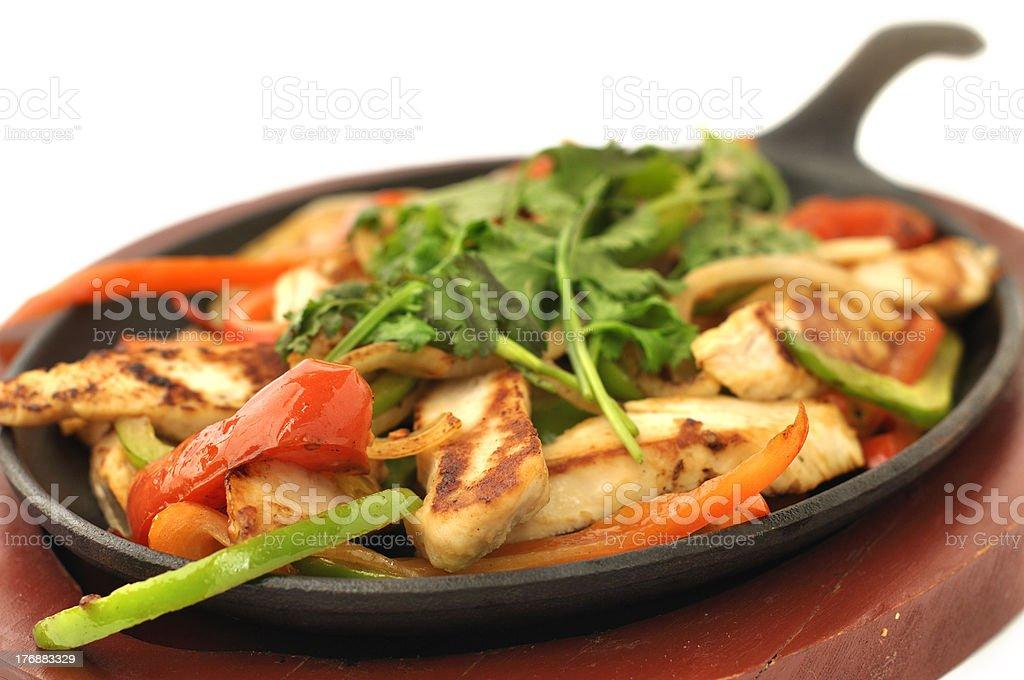 Grilled chicken fajitas royalty-free stock photo