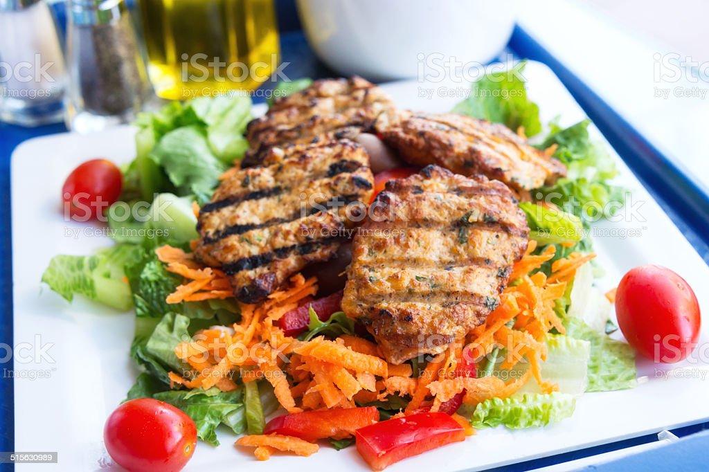 Grilled Chicken Kebab stock photo