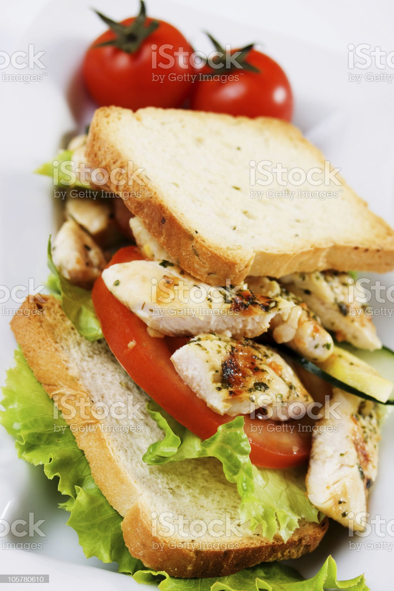 Grilled chicken meat royalty-free stock photo