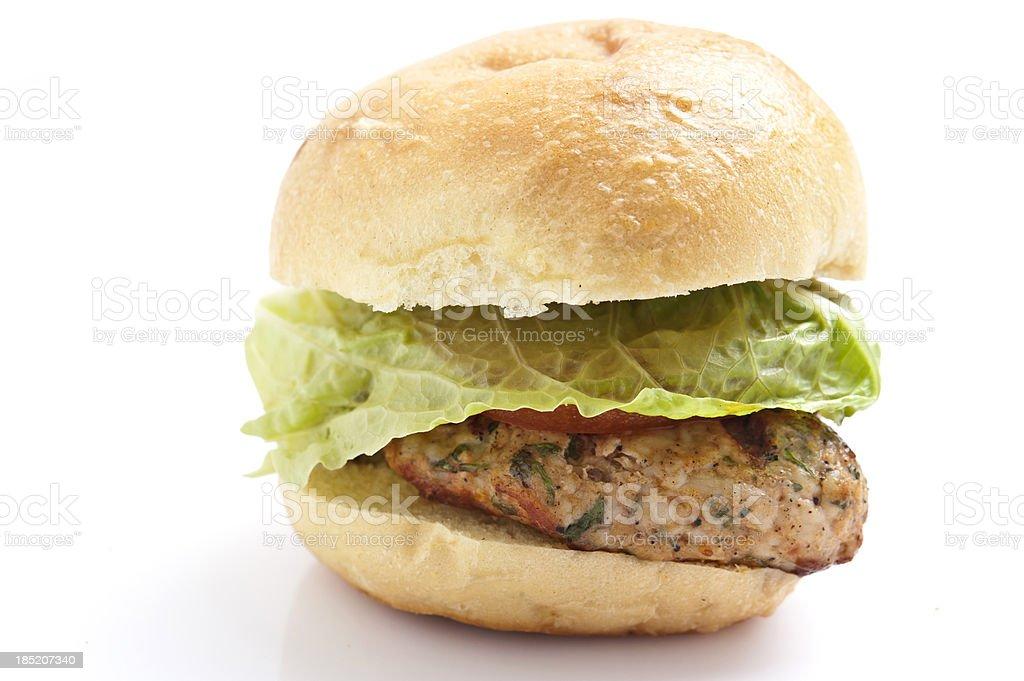 Grilled chicken mini burger stock photo