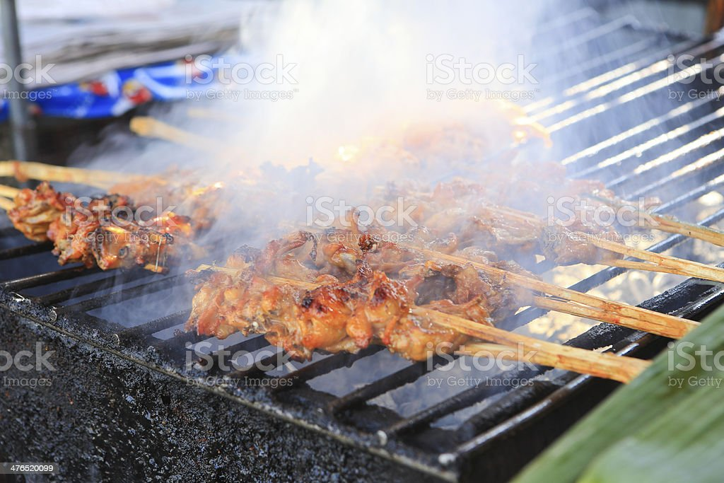 Grilled chicken on the grill royalty-free stock photo