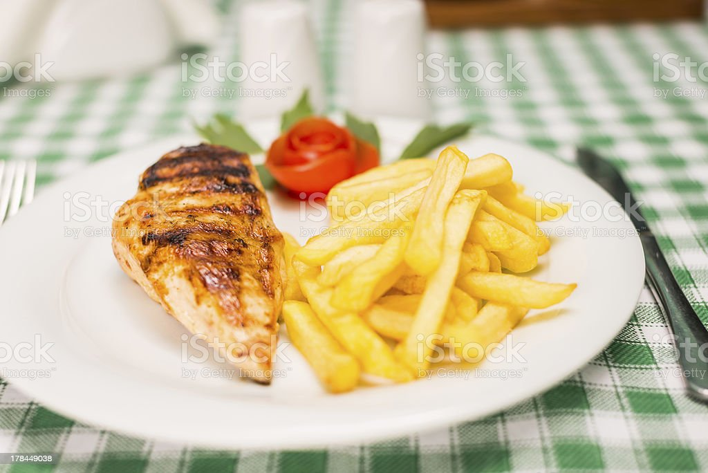 Grilled chicken pipette royalty-free stock photo