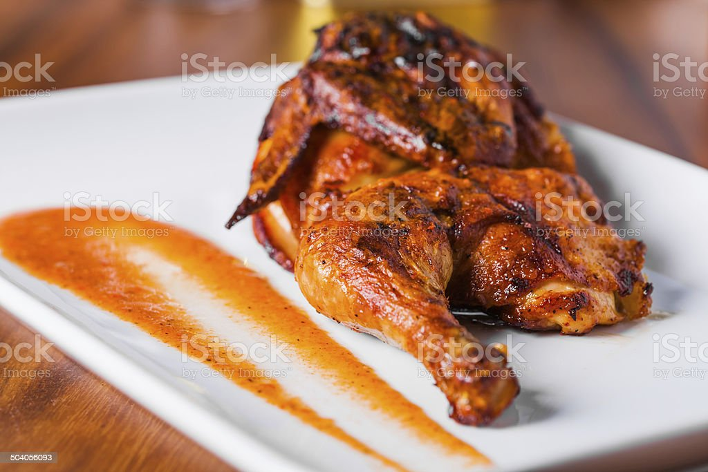 Grilled Chicken Plate stock photo