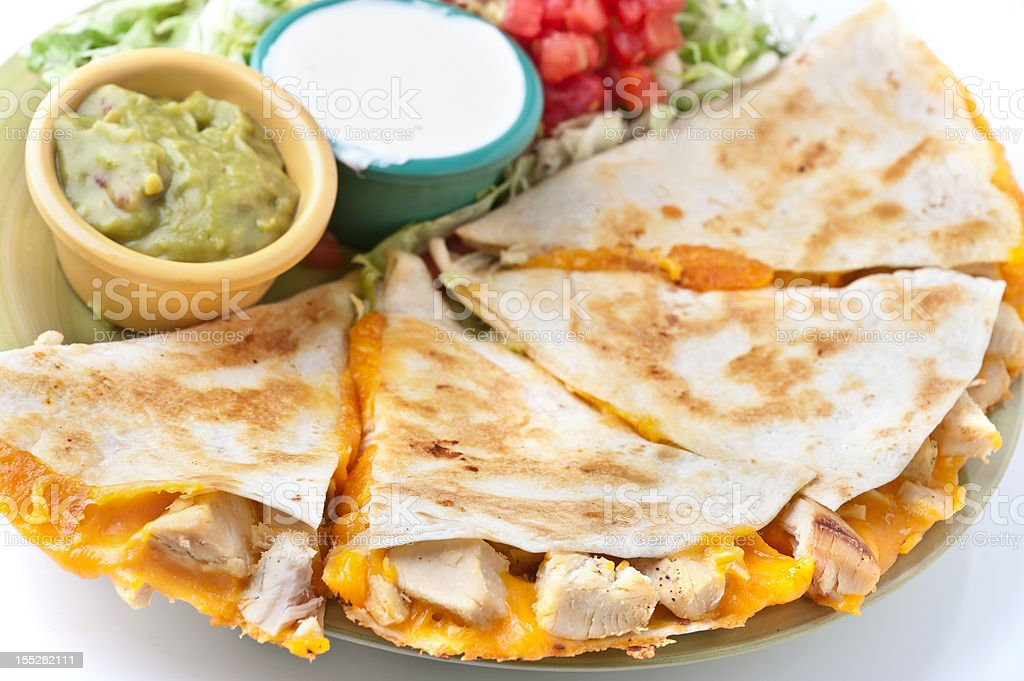 Grilled Chicken Quesadilla royalty-free stock photo