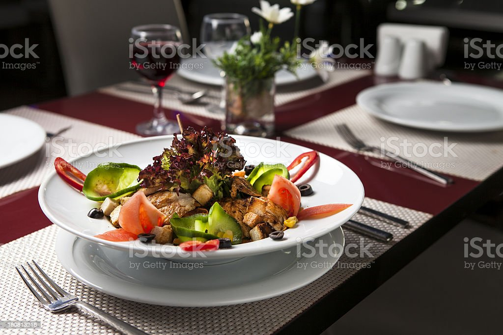Grilled Chicken Salad royalty-free stock photo