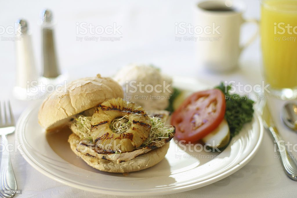 Grilled Chicken Sandwich - Delicious! stock photo